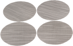 Set*4 Portavaso Xup-S2 11*11*1Cm Pvc Gris Metalico