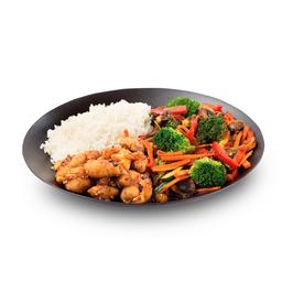 Wok-Box 3 Pollo con Vegetales y Champiñones