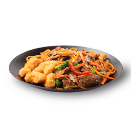 Wok-Box 7 Carne Teriyaki / Cerdo Crocante Agridulce