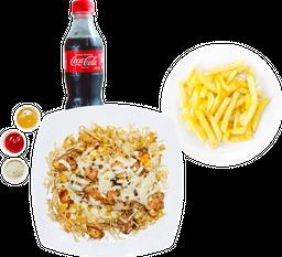🌽 Mazorca Mixta + Papas + Coca Cola
