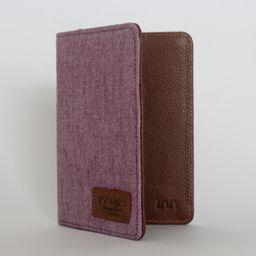 Porta pasaporte rosado