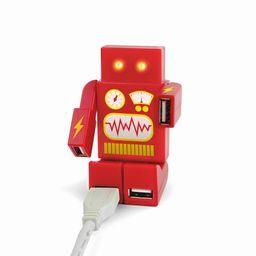 HUB USB DE 4 PUERTOS ROBOT ROJO