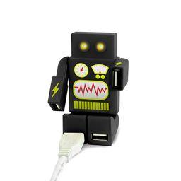 HUB USB DE 4 PUERTOS ROBOT NEGRO