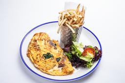 Omelette (pastrami, queso suizo y espinaca)