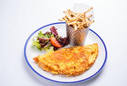 Omelette (Jamón de cerdo y cheddar)