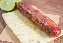 Arepa con Chorizo Santarrosano