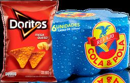Rappicombo Six Pack Refajo Cola Y Pola + Doritos Mega Queso