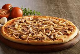 Pizza Pollo y Champiñones BBQ Gigante