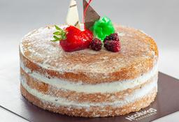 Torta Naked de Tres Leches  1/6 (4 - 6 Porciones)