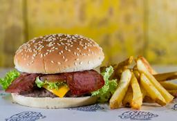 🍔🍟Combo Burger Tocineta 150 Gr