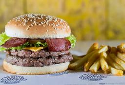 🍔🍟Combo Burger Tocineta 300 Gr