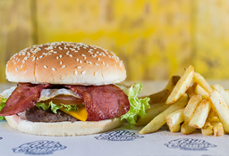 🍔🍟Combo Burger Huevo & Tocineta