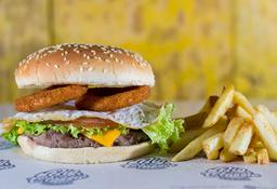 🍔🍟Combo Burger Huevo & Aros De Cebolla
