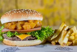 🍔🍟Combo Burger Jamón & Piña