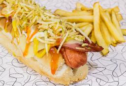 🌭Combo Hot Dog Tocineta 🍟