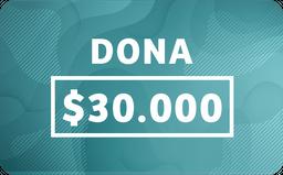 Donacion $30.000
