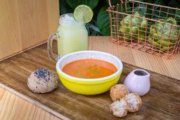 Croquetas de Pavo + Sopa + Limonada Natural
