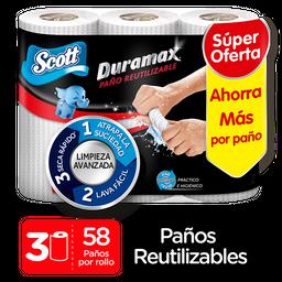 Duramax Paños de Cocina Reutilizables Scott 3 Rollos