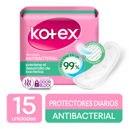 Kotex Protectores Antibacterial X 15u