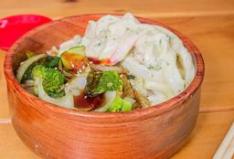 Teppanyaki de pollo (agridulce)