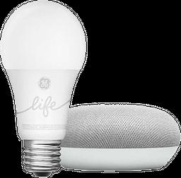 Kit domótica Google home mini + Bolbillo inteligente GE