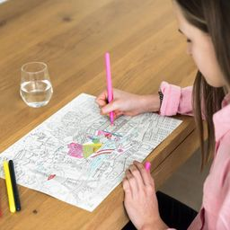 "Individuales ""City Map Colouring"""