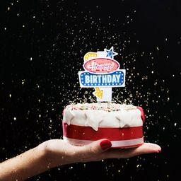 "Vela cumpleaños ""flashing cake topper"""
