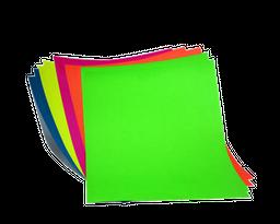 Cartulina 1/8 Fluorescente X 10 H.