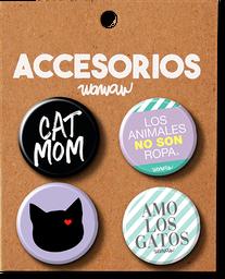 Kit Botones Gato