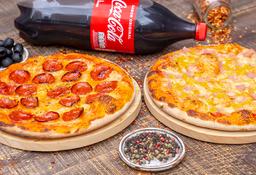 2 Pizzas Clásicas + Gaseosa