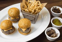 Mini Burgers x3 + papas a la francesa