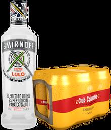 Rappicombo Smirnoff X1 + Sixpack Club Colombia