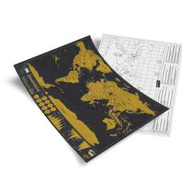 """Mapa """"Scratch Map Deluxe Travel Edition"""""""