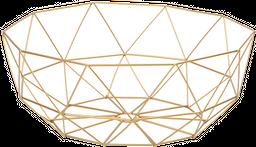 Canasta Kant 36*36*14Cm Metal Dorado