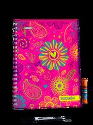 Cuaderno Argollado Cuadriculado X 80 Hojas + Obsequio