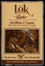 Bark Lök Chocolate 70% Sal Marina-Caramelo 85 g