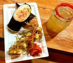 Tequila Time SushiBurrito Spicy Tuna + Cerveza TSingtao