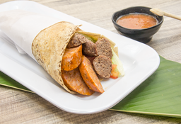 Sándwich de Butifarra y Chorizo