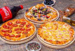 3x2 Pizzas Clásicas + Bebida