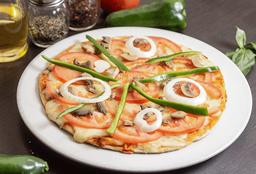 Pizza Vegetariana en Salsa Blanca