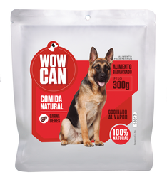Pouch Wow Can Sabor Carne - 300 Gr