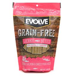 Snak Para Perro Evolve Grain Free Jerky Salmon 12 Oz