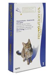 Revolution Spot On Gatos 2.6 A 7.5 Kg Azul