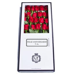 Passion 24 Rosas caja blanca