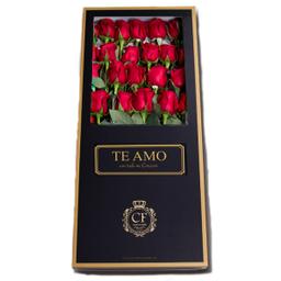 Passion 24 Rosas caja negra