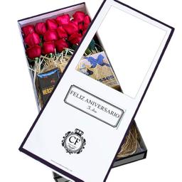Passion 18 Rosas con Chocolates caja blanca
