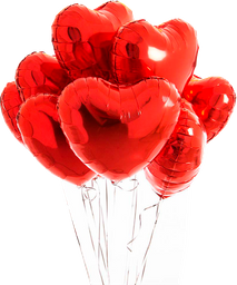 Globo metalizado - Red Heart Heart