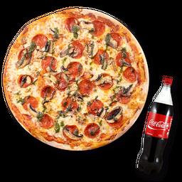 Pizza Pepperonni Champiñon (M)