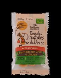 Rosquillas Integrales De Arroz Chia Y Linaza 40Gr