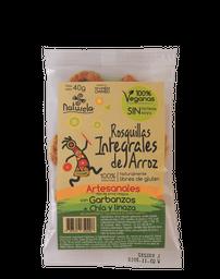 Rosquillas Integrales De Arroz Garbanzo Chia Y Linaza 40Gr